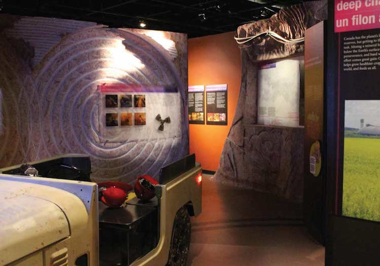 Potash exhibition at Canada Museum of Science and Technology